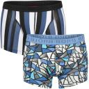 Bjorn Borg Men's 2-Pack Short Shorts - Mosaic and Stripe Blue