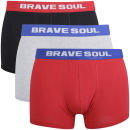 Brave Soul Mens 3-Pack Boxers - Multi