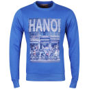 Osaka Men's Hanoi Photo Print Crew Neck Sweatshirt - Royal