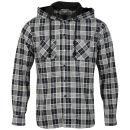 Soul Star Men's T2 Long Sleeved Hooded Shirt - Navy