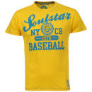 Soul Star Men's Baseball T-Shirt - Yellow