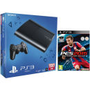PS3: New Sony PlayStation 3 Slim Console (500 GB) with PES 2015: Pro Evolution Soccer