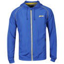 Slazenger Men's Zip Through Hooded Kagoule - Royal Blue/Yellow