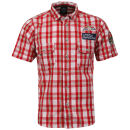 Benzini Men's Belmont Short Sleeved Check Shirt - Red
