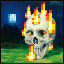 Minecraft Flaming Skull - Maxi Poster - 61 x 91.5cm