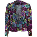 AX Paris Women's Floral Rose Jacket - Multi
