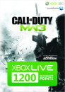 Tarjeta Prepago Xbox Live 1200 Microsoft Points (Call Of Duty: MW3)