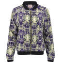Neon Rose Women's Cosmic Bomber Jacket - Blue