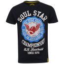 Soul Star Men's Football T-Shirt - Navy