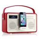 View Quest Colourgen Retro Radio and Dock - Red (8 Pin/Lightning)