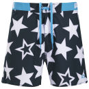 WAXX Men's Galaxy Beach Swim Shorts - Black/White