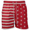 Oiler & Boiler Men's Classic Swim Short - Red Stars / Stripes