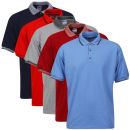 Gildan Men's 5-Pack Polo Shirts - Navy/Grey/Red/Trim Red/Blue