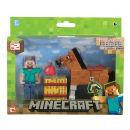 Minecraft Steve With Chestnut Horse Figure