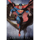 Superman Man of Steel Comic Style Flying - Maxi Poster - 61 x 91.5cm