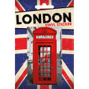 London Phonebox - Vinyl Sticker - 10 x 15cm