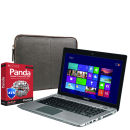 Toshiba Satellite Touchscreen Ultrabook Laptop P845T-108 (i3, 4Gb, 500Gb, 14 inch HD LED Touch) with Panda 2014 Global Protection and dBramane1928 Leather Case in Black & Brown