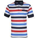 Kickers Men's Tarpon Polo - Navy/White/Red