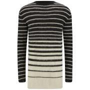 McQ Alexander McQueen Men's Degrade Mohair Stripe Jumper - Black/Cream