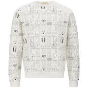 Peter Jensen Men's Rabbit Repeat Jersey Sweatshirt - White