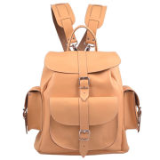 Grafea Peaches & Cream Medium Leather Rucksack - Peach