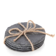 Natural Living 4 Piece Circular Slate Coasters