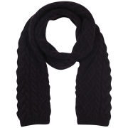Johnstons of Elgin Cable Knit Cashmere Scarf - Plum