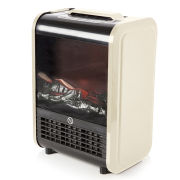 Warmlite Mini Fireplace Heater - Cream