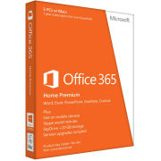 Microsoft Office 365, Home Premium, Licence Card, 5 Users, 1 year (PC/Mac)