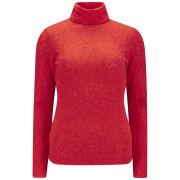 M Missoni Women's Turtle Neck Knitted Jumper - Rosso Arancio