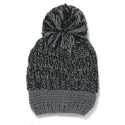 Impulse Women's Neon Knitted Bobble Hat - Black