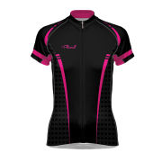 Primal Tungsten Women's Evo Short Sleeve Jersey - Black/Pink
