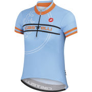 Castelli Kids' Segno Short Sleeve Jersey - Blue