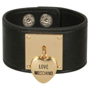 Love Moschino Women's Locket Cuff Bracelet - Black