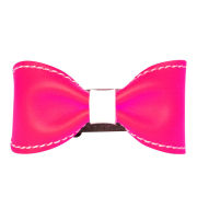 Anna Lou of London Limited Edition Leather Bow Bracelet - Neon Pink