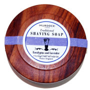 Murdock London Luxury Traditional Shaving Soap - Lavender and Eucalyptus Presented in wooden bowl