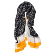 Stella McCartney Women's Large Animal Print Scarf with Orange Border - Multi