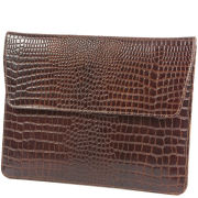 dbramante1928 Leather iPad Envelope (iPad 2, 3, 4, Air, and Air 2) - Crocodile Brown