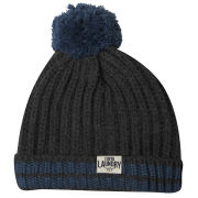 Tokyo Laundry Men's Baber Tipped Bobble Hat - Charcoal Marl/Marine