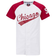 55 Soul Men's Gilroy Baseball Shirt - White/Red