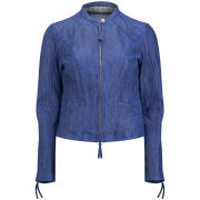 BOSS Orange Women's Janalisa Leather Jacket - Navy