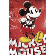 Mickey Mouse Red - Maxi Poster - 61 x 91.5cm