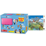 Nintendo 3DS XL Pink Console - Includes Tomodachi Life & Fantasy Life