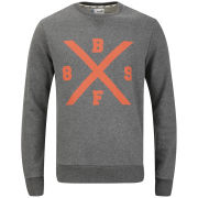 Boxfresh Men's Haani Crew Neck Sweatshirt - Charcoal Marl