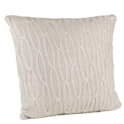 Malini Hand Knitted Cable Cushion