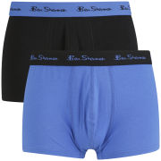 Ben Sherman Men's 2 Pack Trunks - Black/Blue