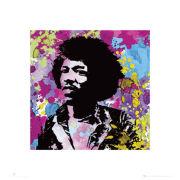 Jimi Hendrix Colours - 40 x 40cm Print