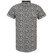Soul Star Men's Leopard Shirt - Black