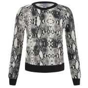 Baum und Pferdgarten Women's Elmar Python Print Sweatshirt - Black/White