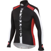 Castelli AR Long Sleeve Full Zip Jersey - Black/Red